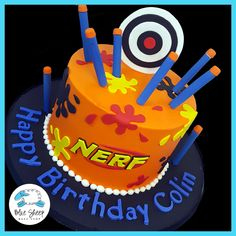 nerf birthday cake nj