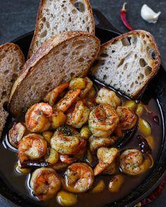 Shrimp Recipes Easy, Seafood Recipes, Chef Recipes, Cooking Recipes, Good Food, Yummy Food, Tasty, Food Videos, Recipe Videos