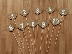 Burlap Table Numbersrustic wedding table numbers by Agitasworks