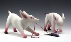"""Animals take on a special meaning in San Francisco based artist Erika Sanada's work, whose sculptures of cute """"zombified"""" puppies, rats, and baby birds represent a sort of escapis…"""