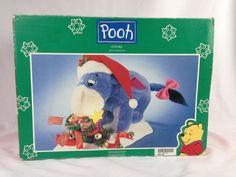 Vtg Telco Christmas Motionette Winnie Pooh EEYORE Animated Figure Lighted Disney #Telco