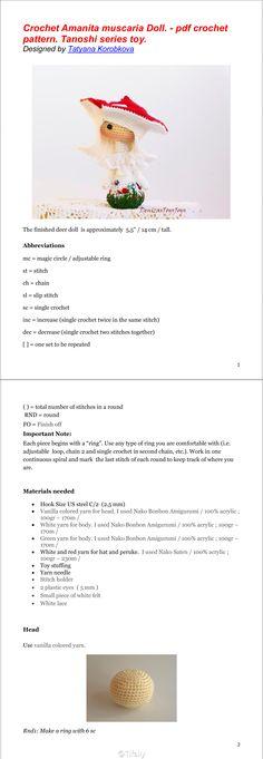 #Tifaily图解分享# 钩针 蘑菇 公仔 外文图解 (很可爱的有木有) - 來自【@Tifaily/微博精選-chinatimes 中時電子報】