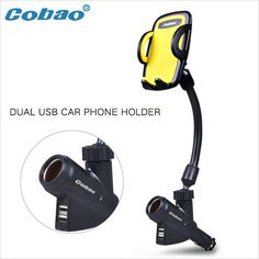 2017Cobao multifunction Universal Dual USB Car Charger mobile Phone Holder Bracket Stands suitable for iPhone 5 6 Plus etc
