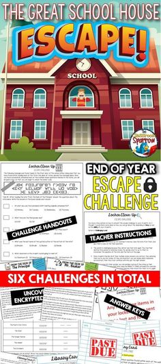 End Of Year Activities, Team Building Activities, End Of School Year, School Fun, High School, Escape Room Team Building, Escape Room Challenge, Professor, Secondary Teacher