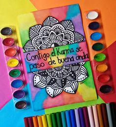 Dibujos Zentangle Art, Karma, Ideas, Mandalas, Thoughts
