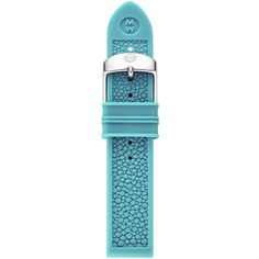 Michele 20mm Turquoise Stingray Silicone Watches, Blue ($35) ❤ liked on Polyvore featuring jewelry, watches, blue, turquoise jewelry, military style watches, blue jewelry, military wrist watch and silicone strap watches