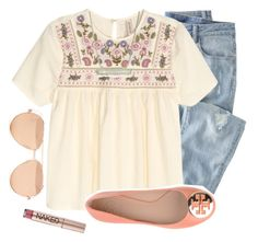 It's Thursday! by camelizabethh on Polyvore featuring moda, Wrap, Tory Burch, Kendra Scott, Linda Farrow and Urban Decay