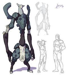 Master of Orion- Minimalism Shading Creature Concept Art, Robot Concept Art, Creature Design, Character Design Sketches, Character Design References, Character Design Inspiration, Aliens, Character Concept, Character Art
