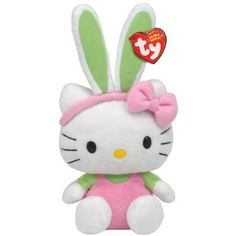 Ty Beanie Baby Plush Toy Hello Kitty Easter Pink by Ty UK Ltd >>> Check out the image by visiting the link. Peluche Hello Kitty, Hello Kitty Plush, Beanie Boos, Beanie Babies, Pink Jumper, Miss Kitty, Kawaii Plush, Cute Stuffed Animals, Kitty Wallpaper