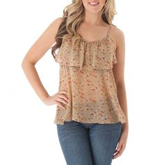 Ruffle Trim Tank... Perfect for a Straight Up summer day