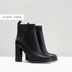 ZARA - WOMAN - TRACK SOLE HIGH HEEL  ANKLE BOOT