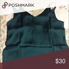SALE Brandy melville satin silk dupe  tank Green Brand new no tags were attached. brandy look a like satin silk olive army green vneck tank. One size fit most.  Price is firm.  Have a short  to match let me know if you would like to bundle Listing is for shirt only Non brand tagged under brandy for visibility  Color is slightly lighter than picture. The stock photo kind of represents the tank but the one listed is vneck and the stock photo is scoop  John galt brandy melville urban outfitters…