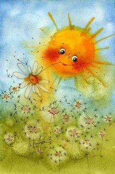 Позитивные акварельные иллюстрации Виктории Кирдий (34 рисунка) » RadioNetPlus.ru развлекательный портал