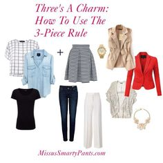 Use the 3-piece rule to improve your style...let MissusSmartyPants show you how!
