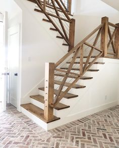 Treppenhaus-Design-Ideen Architecture New Staircase Design . - Dream Home - haus neu mobel House Stairs, House, Staircase Decor, Home, Staircase Design, Home Remodeling, New Homes, Diy Staircase, Brick Flooring