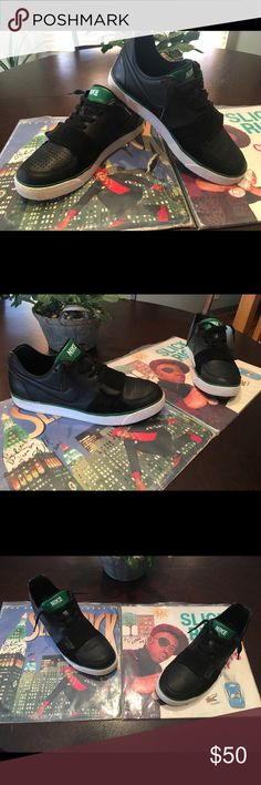 DJ RA MAK LAB SHOES!!! Once worn shoes from shows! NIKE ZOOM tennis shoe. BLACK/GREEN/WHITE Nike ZOOM Shoes Sneakers