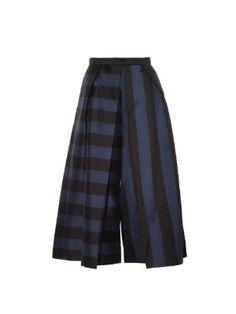 Escalante striped pleated-silk culottes | Tibi | MATCHESFASHION.COM US