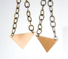 recycled metal earrings by Objects and Subjects