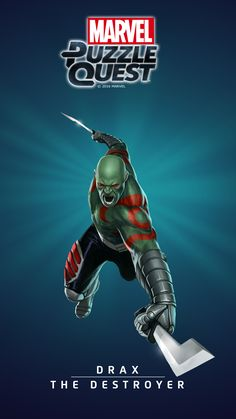 #Drax #Fan #Art. (DRAX - THE DESTROYER IN: MARVEL'S PUZZLE QUEST!) BY: AMADEUS CHO! (THE * 5 * STÅR * ÅWARD * OF: * AW YEAH, IT'S MAJOR ÅWESOMENESS!!!™) [THANK U 4 PINNING!!!<·><]<©>ÅÅÅ+(OB4E)(IT'S THE MOST ADDICTING GAME ON THE PLANET, YOU HAVE BEEN WARNED!!!)