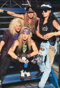 355642bc25a1f Poison  Poison is a Glam Metal band from Los Angeles. Formed by drummer  Rikki Rockett and singer Bret Michaels
