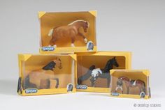 Mini breyer boxes for Mini Whinnies! Too cute!