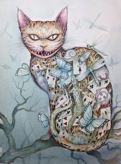 Chesire Cat Alice In Wonderland Lewis Carroll, Cheshire Cat Art, Chesire Cat, Dark Alice In Wonderland, Adventures In Wonderland, Alice In Wonderland Illustrations, Son Chat, Alice Madness, Pin Up