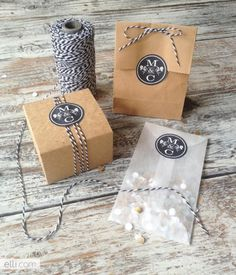 These monogram bag and package labels take your packages from drab to fab! ~Ally