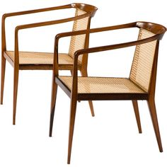 pair of lounge chairs by John Graz.