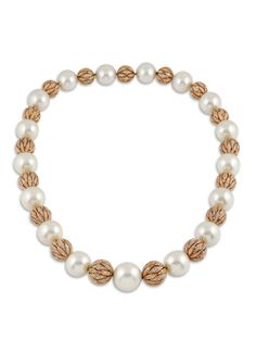 White Pearl With Gold Necklace Gold And Pearl Necklace 1