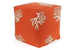 Coral Outdoor Cube, Orange on OneKingsLane.com
