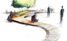 concept SKETCH Curvy public bench