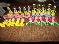 Ponteira princesas - Branca de neve - Tiana - Bela - Aurora - Cinderela - Ariel - festa princesas