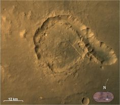 Pital Crater - Picture from Mars Color Camera (MCC) of India's Mars Orbiter Spacecraft on 23-04-2015
