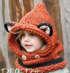 Keep Her Warm - Girls Shawl & Cat Ear Beanie