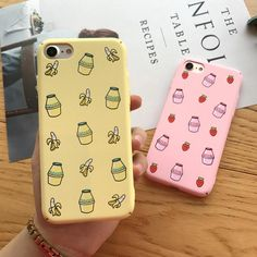 Milk Shakes, Art Phone Cases, Iphone Cases, Iphone 8 Plus, Apple Iphone, Pattern Cute, Banana Milk, 6s Plus Case, Coque Iphone