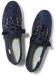 Keds x kate spade new york Champion Glitter Wedding, Blue Glitter