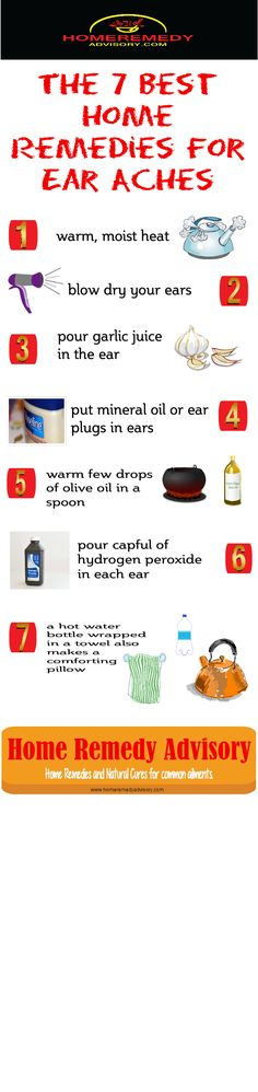 The 10 Best home remedies for a ear ache