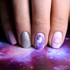 Unicorn Nails Designs, Nail Ring, My Nails, Manicure, Nail Designs, Nail Art, Beauty, Deviantart, Rings