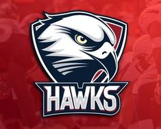 HAWKS Logo design - Logo for a sports team. Can use the football team… Gfx Design, Team Logo Design, Sport Design, Football Logo Design, Typography Logo, Logo Branding, Sports Team Logos, Sports Teams, Hawk Logo