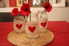 jarron con tarro vidrio