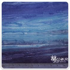 Color Crush Batiks - Ocean Yardage from Missouri Star Quilt Co