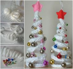 Wonderful DIY French Knitting Ornaments for Christmas / WonderfulDIY.com on imgfave