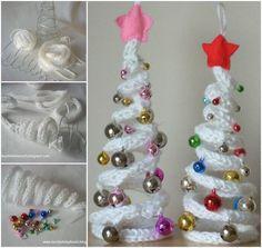 Wonderful DIY French Knitting Ornaments for Christmas / WonderfulDIY.com on imgfave