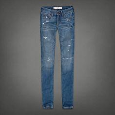 destroyed medium wash skinny jeans #AF