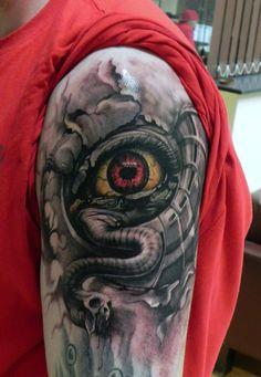 3D Arm Tattoo Design