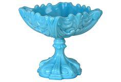Ornate Milk-Glass Compote on OneKingsLane.com