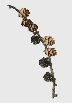 """""""From barren brown stems to glistening leaf-buds…It was like a flute song forgotten in another existence and remembered again.""""  ~Zora Neale Hurston. Photo: Pinecones @marionturcotti"""