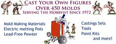 Over 450 figure molds and mold making supplies and materials. Mold Making, Metal Casting, Miniature, It Cast, How To Make