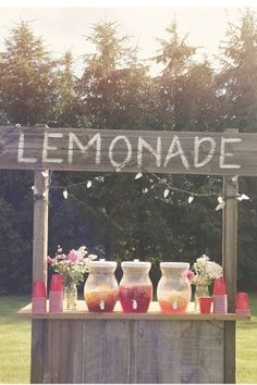 lemonade stand for backyard parties