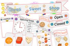 FREE Diwali Sweet Shop Role Play Pack printable Early Years/EY (EYFS) resource/download — Little Owls Resources - FREE Eyfs Activities, Literacy Games, Learning Activities, Nursery Practitioner, Early Years Teacher, Role Play Areas, Expressive Art, Teaching English, Nursery Rhymes